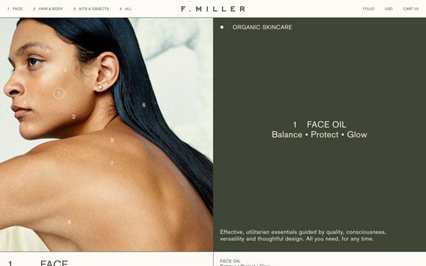F. Miller Skin Care Website